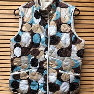 Coach reversible Brown/Blue & white Vest